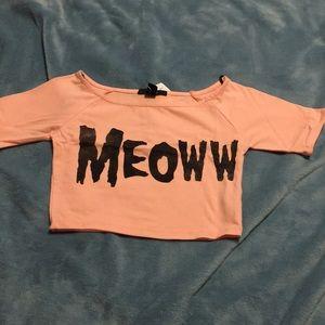 Meoww crop top